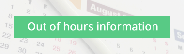 Out of hours information